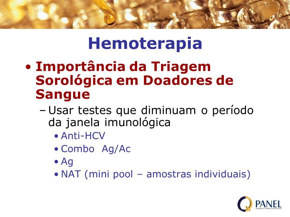 Hemoterapia Importância da Triagem Sorológica em Doadores de Sangue