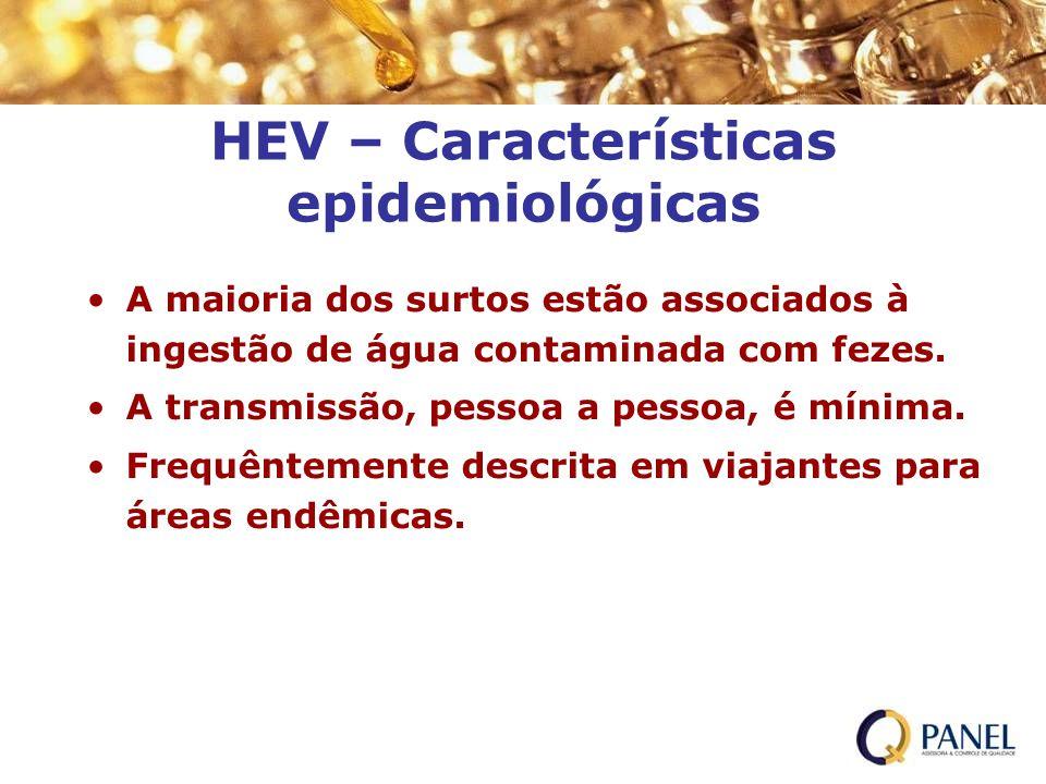 HEV – Características epidemiológicas