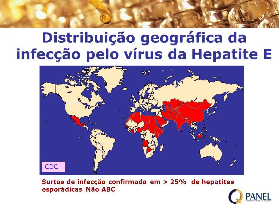 Distribuição geográfica da infecção pelo vírus da Hepatite E