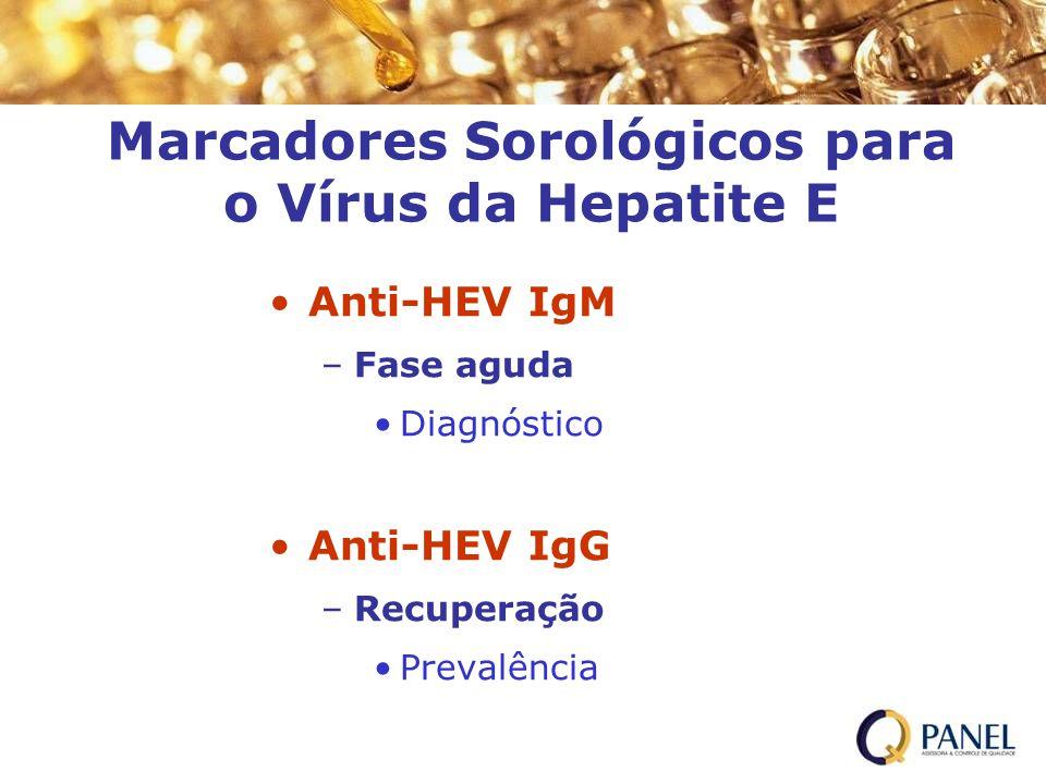 Marcadores Sorológicos para o Vírus da Hepatite E