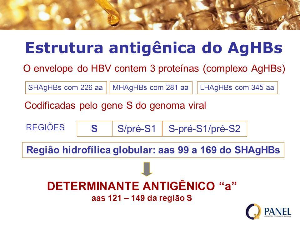 Estrutura antigênica do AgHBs