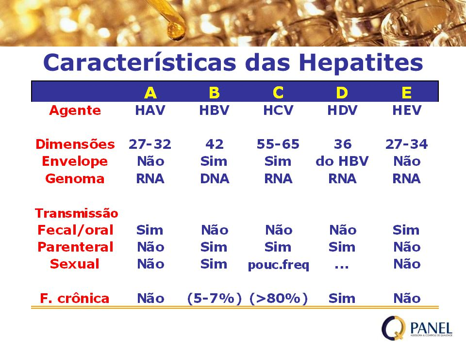 Características das Hepatites