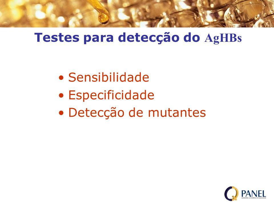 Testes para detecção do AgHBs