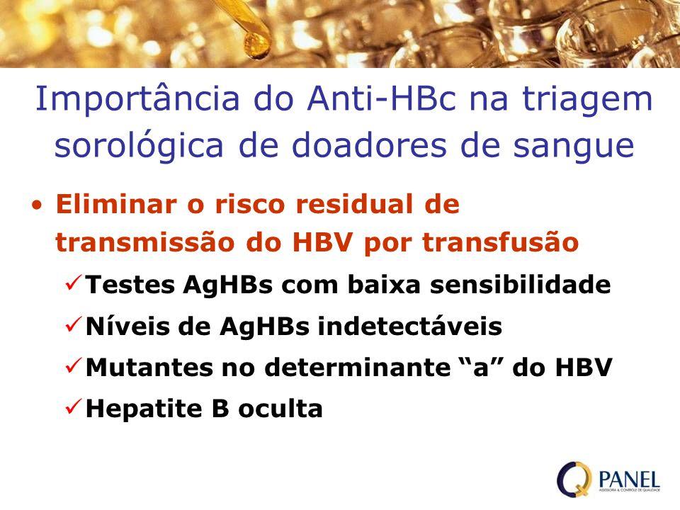 Importância do Anti-HBc na triagem sorológica de doadores de sangue