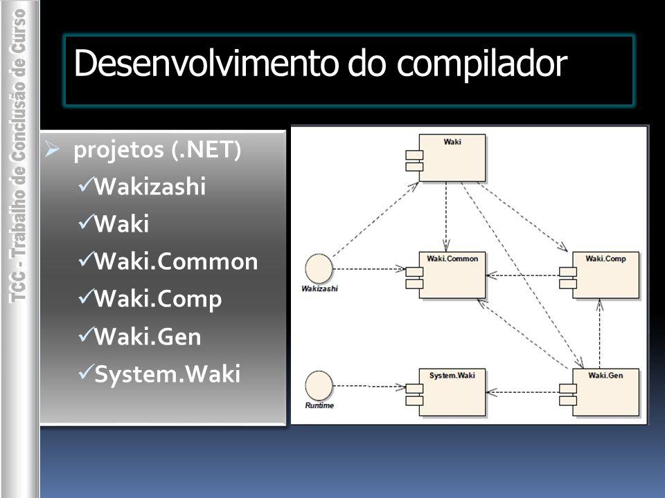 Desenvolvimento do compilador
