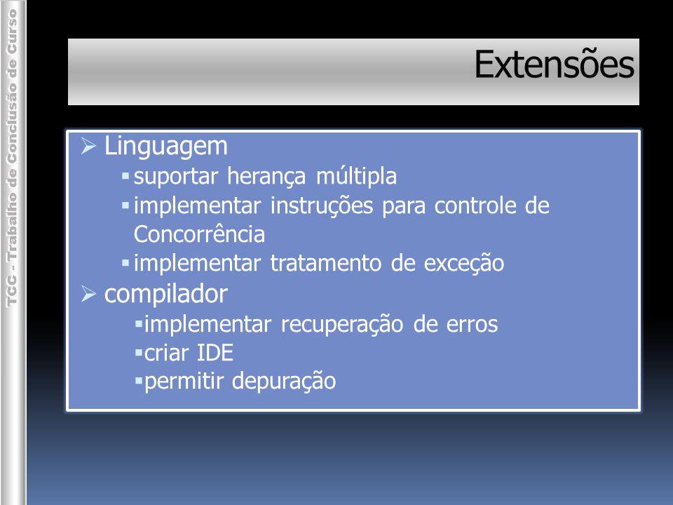 Extensões Linguagem compilador suportar herança múltipla