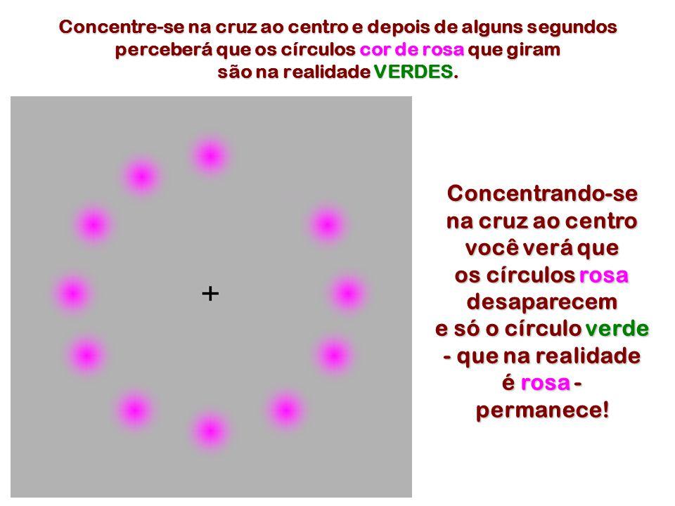 Concentrando-se na cruz ao centro você verá que