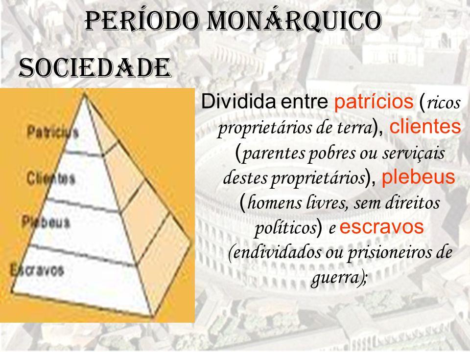 Período Monárquico SOCIEDADE