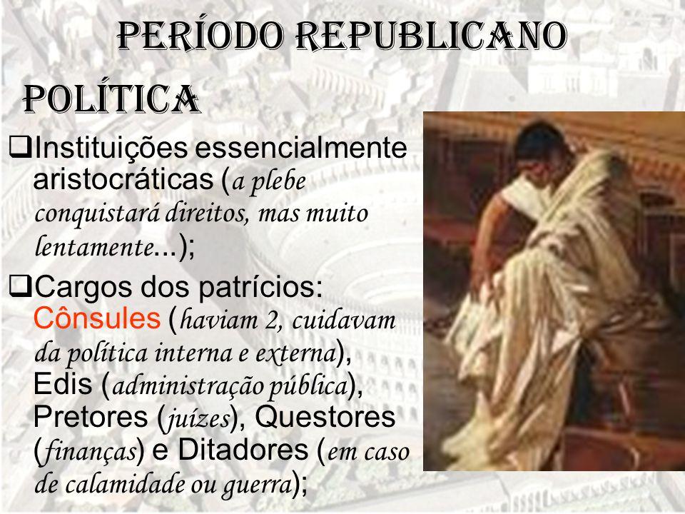 Período Republicano POLÍTICA