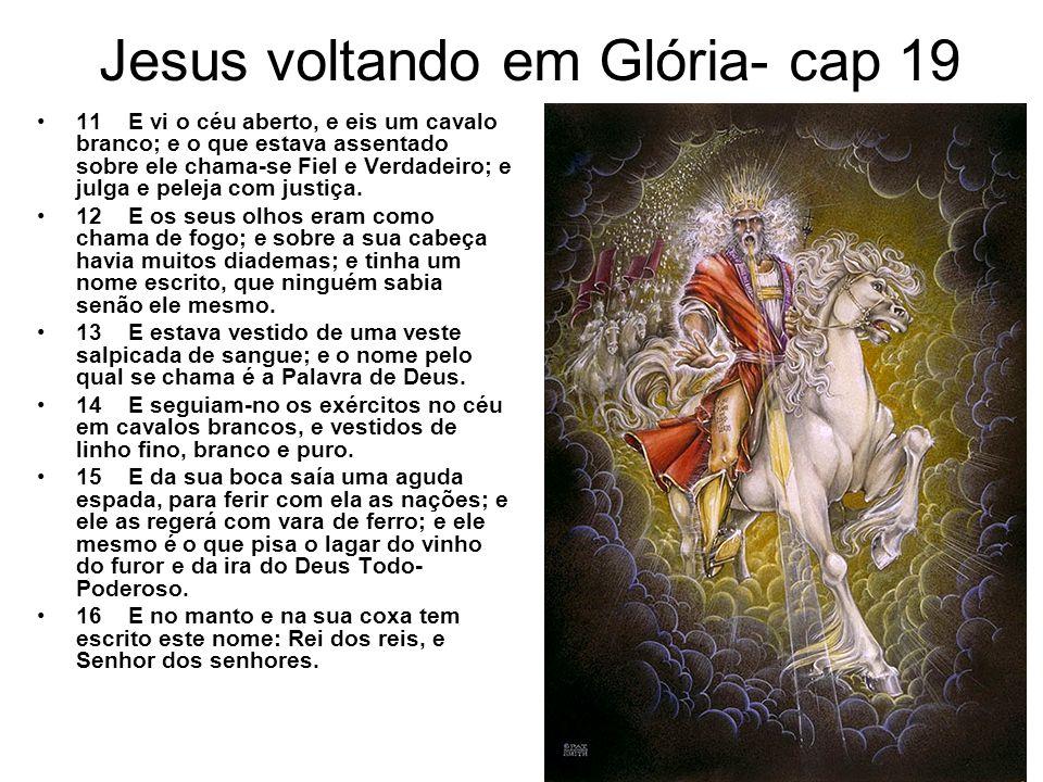 Jesus voltando em Glória- cap 19