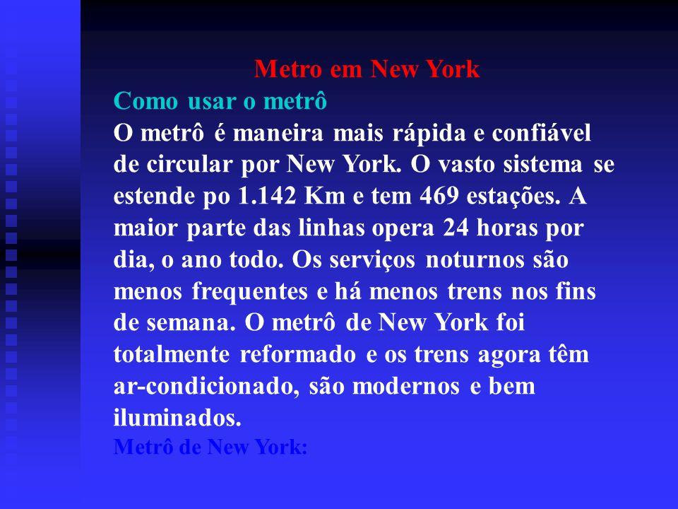 Metro em New York Como usar o metrô
