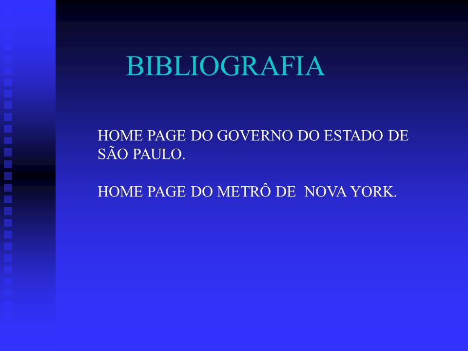 BIBLIOGRAFIA HOME PAGE DO GOVERNO DO ESTADO DE SÃO PAULO.