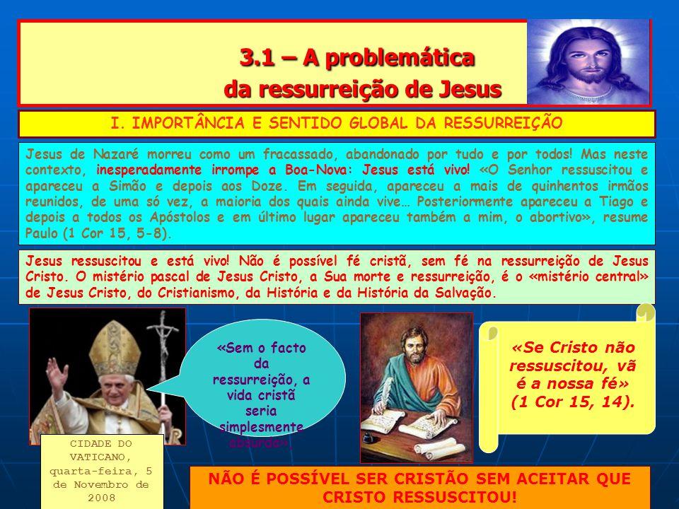 3.1 – A problemática da ressurreição de Jesus
