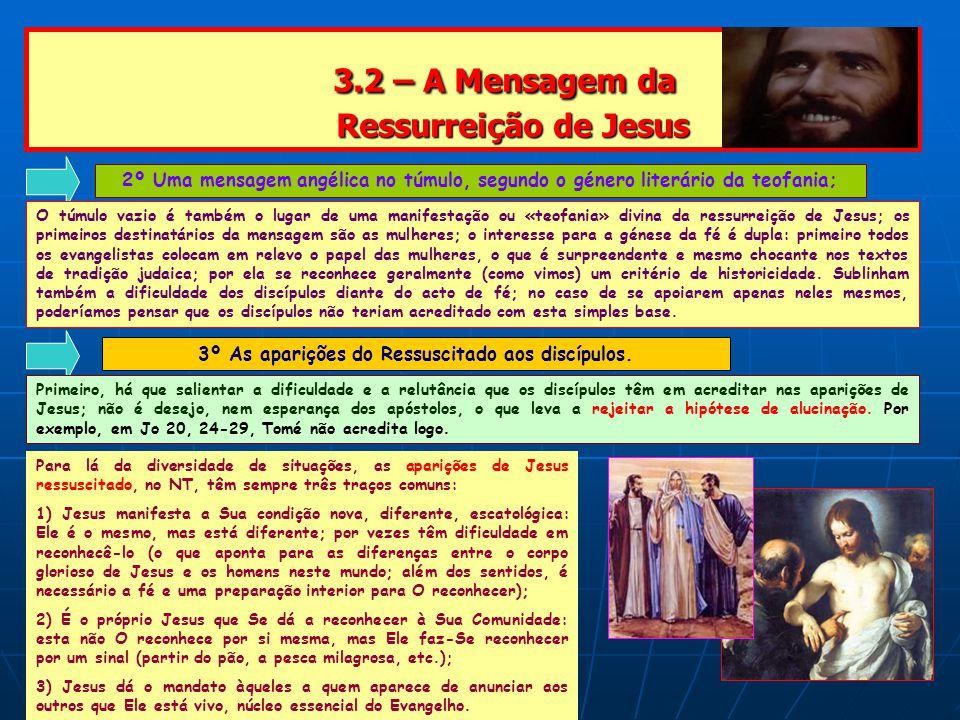 3.2 – A Mensagem da Ressurreição de Jesus