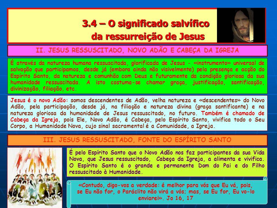 3.4 – O significado salvífico da ressurreição de Jesus