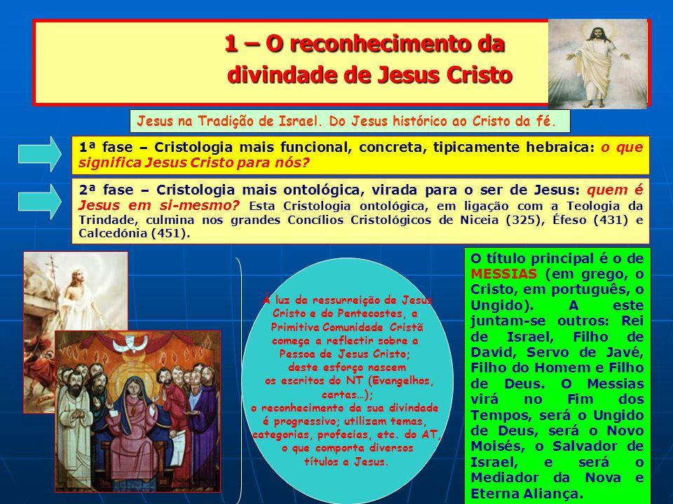 1 – O reconhecimento da divindade de Jesus Cristo