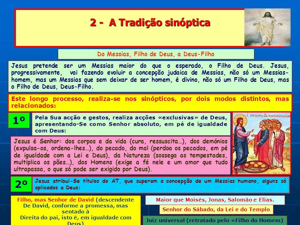 2 - A Tradição sinóptica 1º 2º Do Messias, Filho de Deus, a Deus-Filho