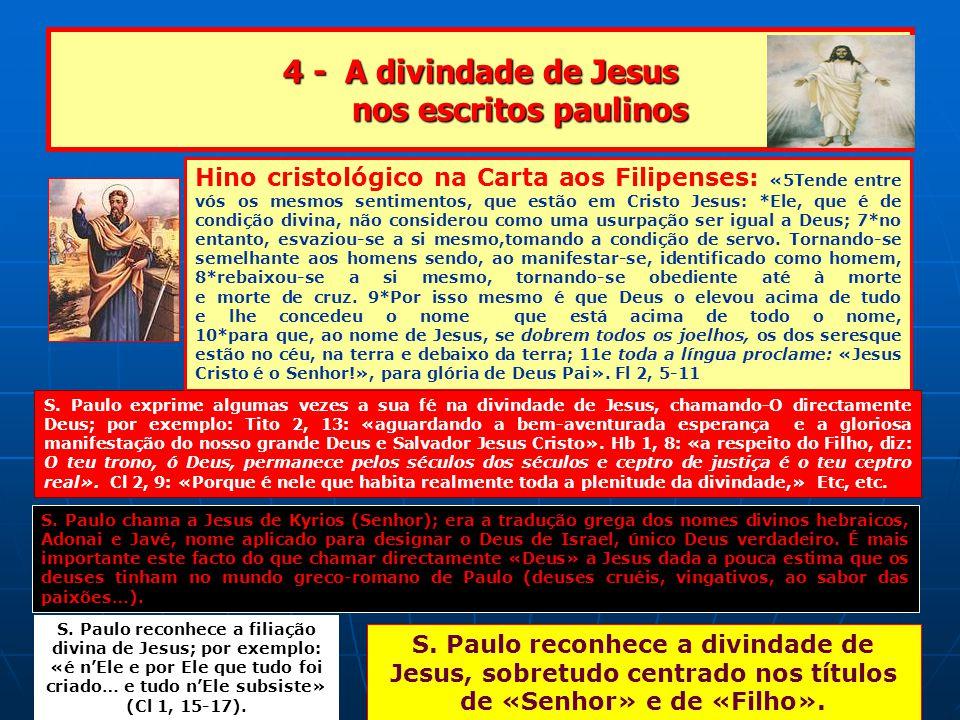 4 - A divindade de Jesus nos escritos paulinos