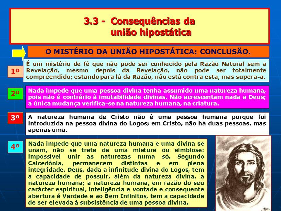 3.3 - Consequências da união hipostática