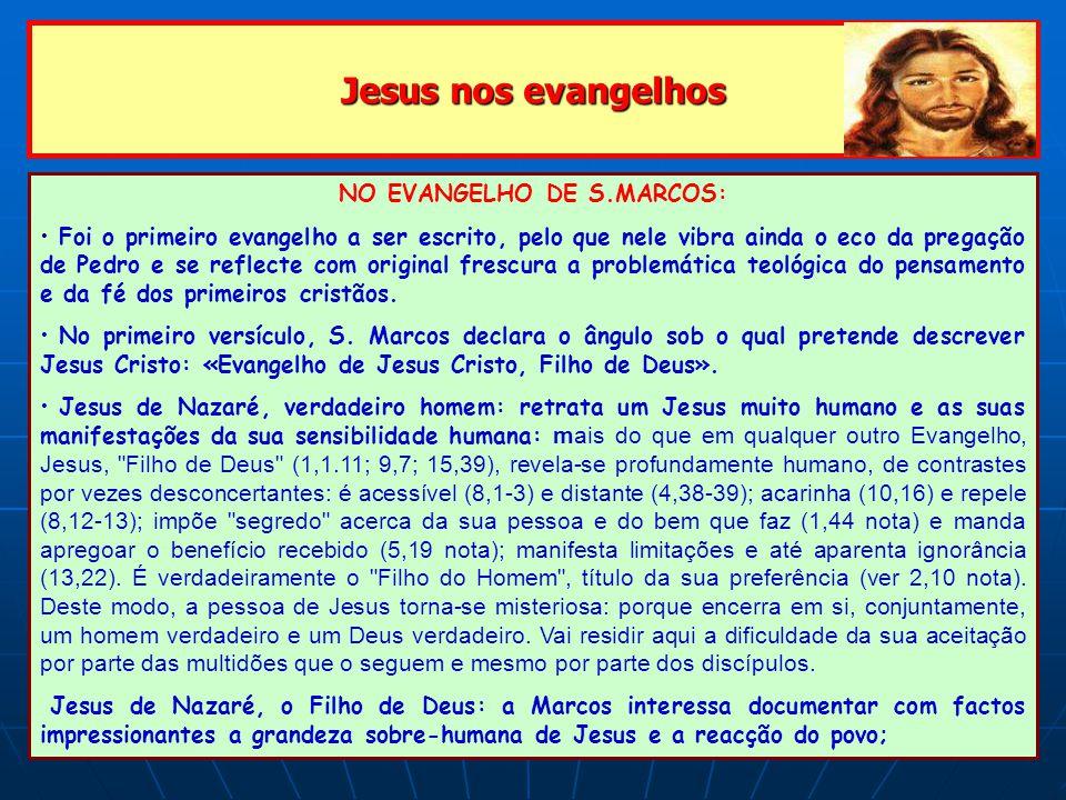 NO EVANGELHO DE S.MARCOS:
