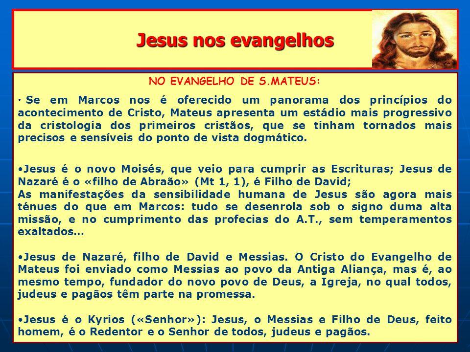 NO EVANGELHO DE S.MATEUS: