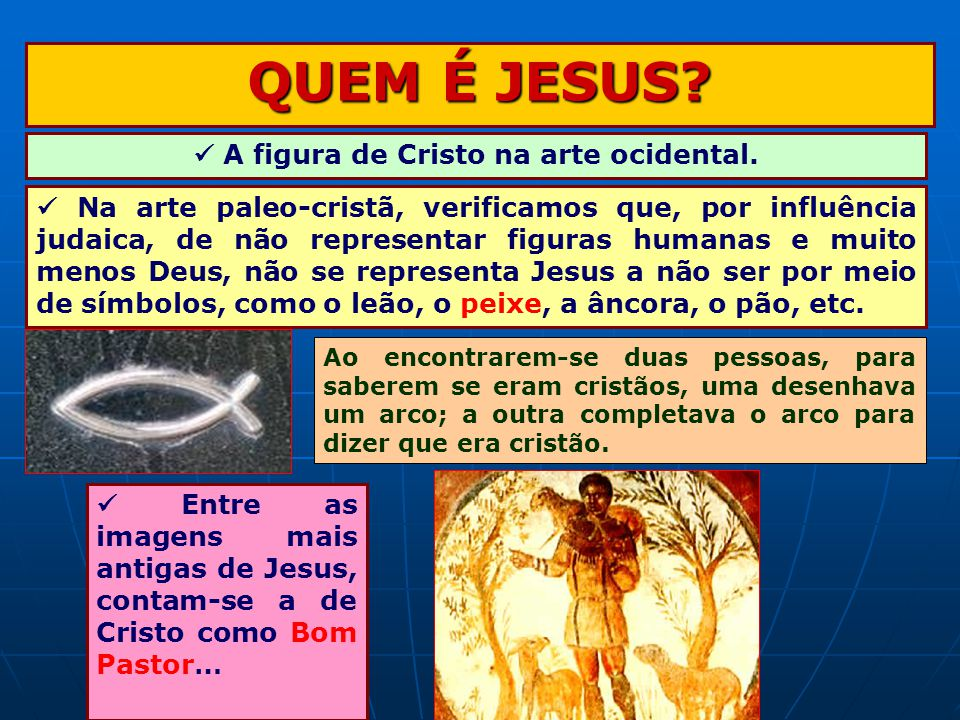  A figura de Cristo na arte ocidental.