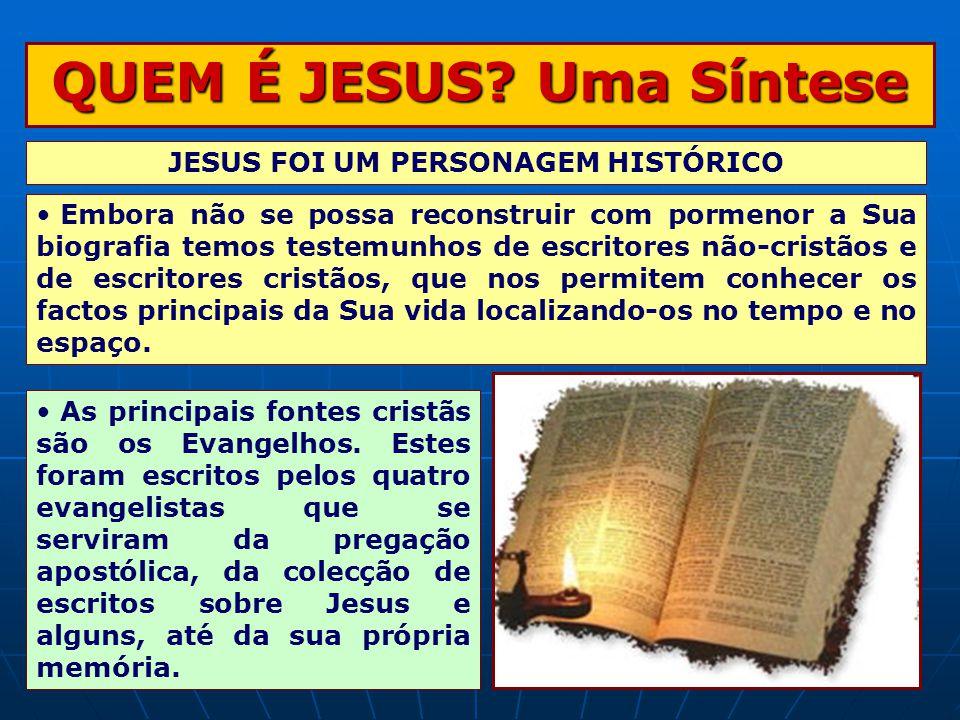 QUEM É JESUS Uma Síntese