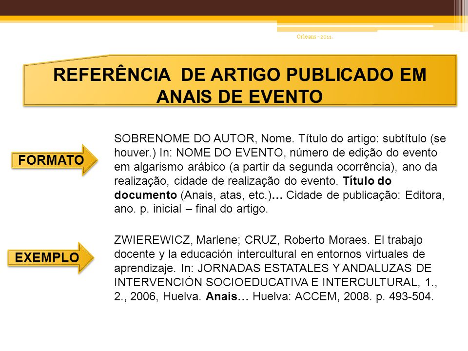 REFERÊNCIA DE ARTIGO PUBLICADO EM ANAIS DE EVENTO