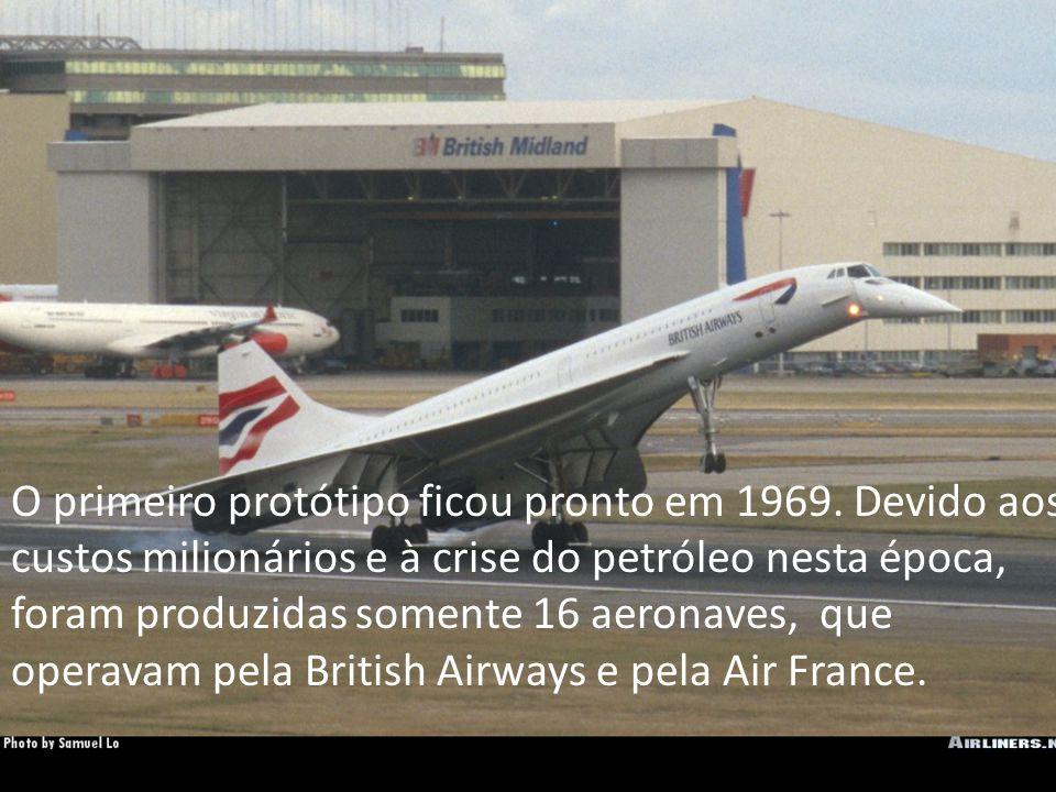 O primeiro protótipo ficou pronto em 1969