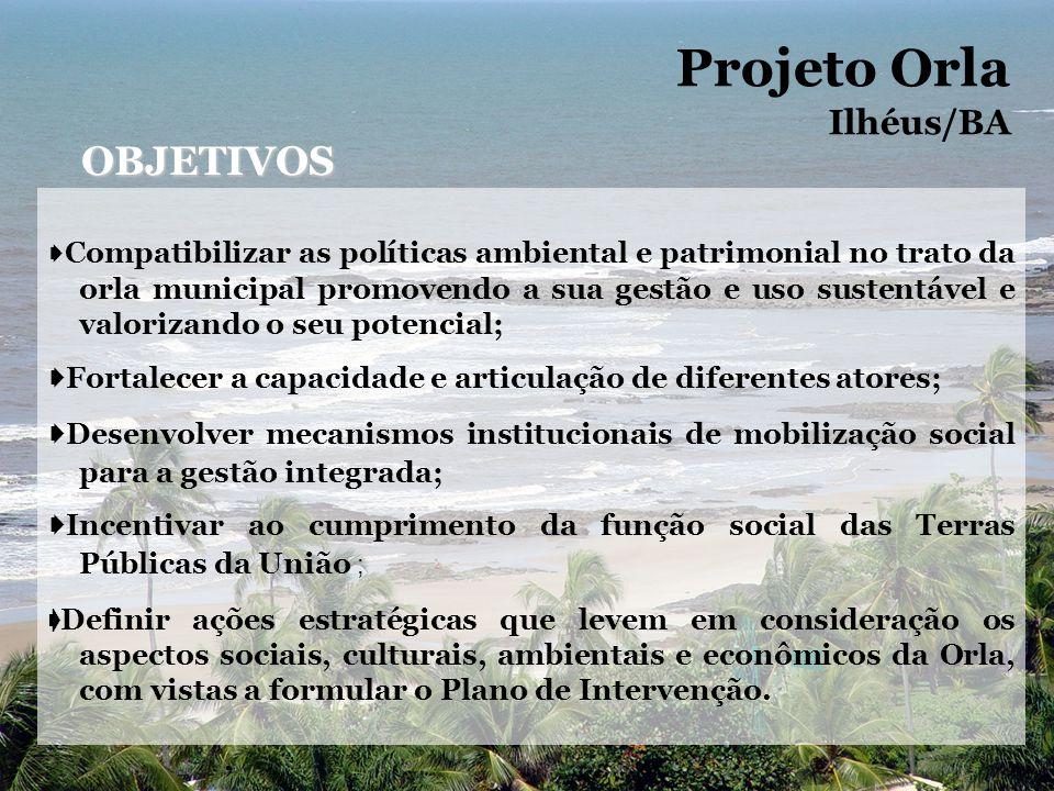 Projeto Orla OBJETIVOS Ilhéus/BA