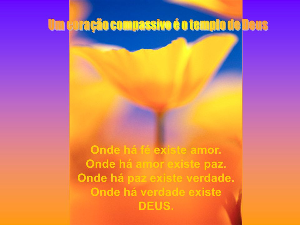 Um coração compassivo é o templo de Deus