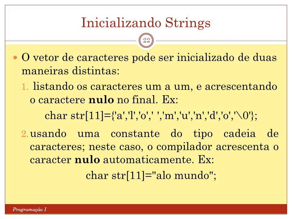 Inicializando Strings