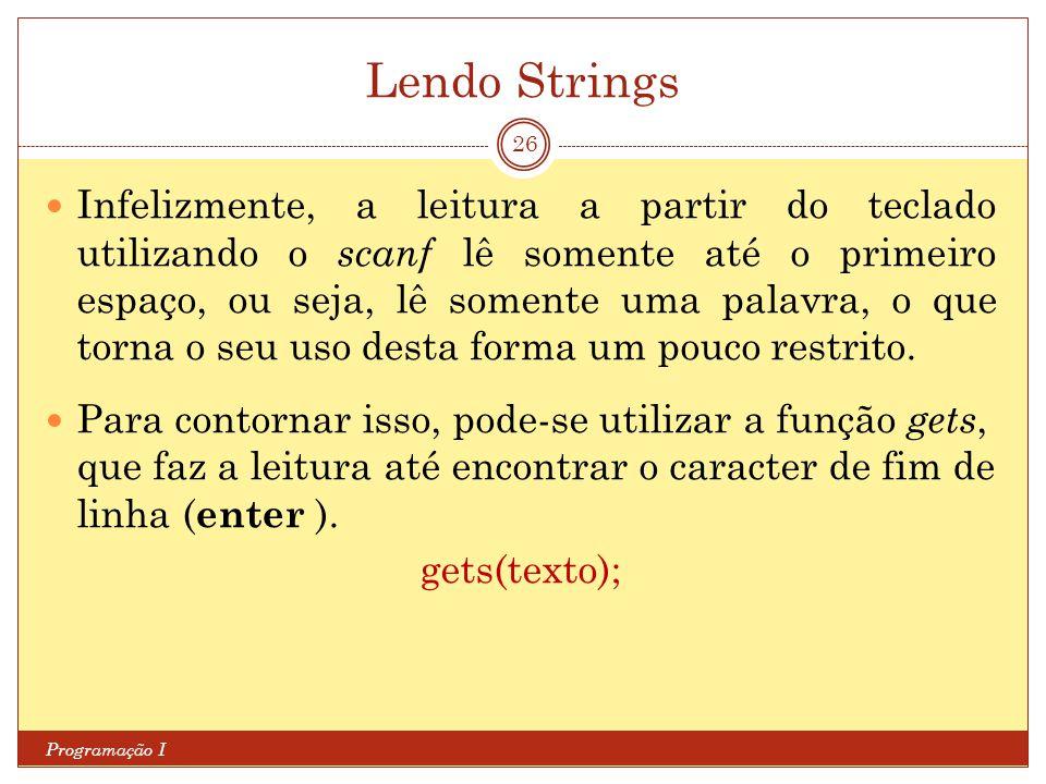 Lendo Strings
