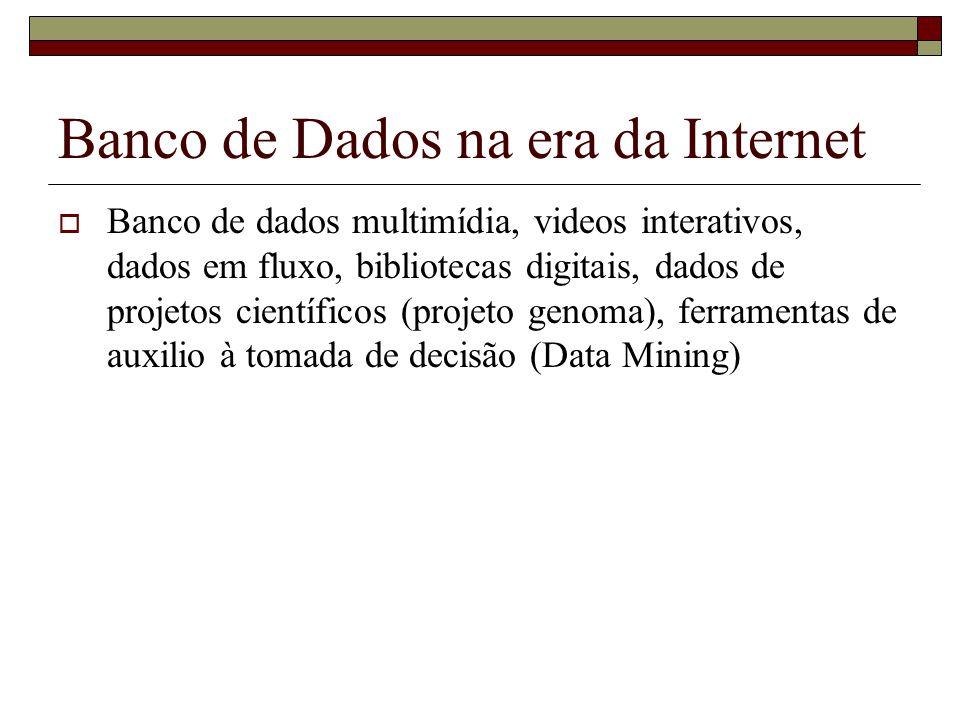 Banco de Dados na era da Internet
