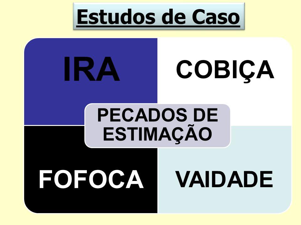 Estudos de Caso PECADOS DE ESTIMAÇÃO IRA COBIÇA FOFOCA VAIDADE