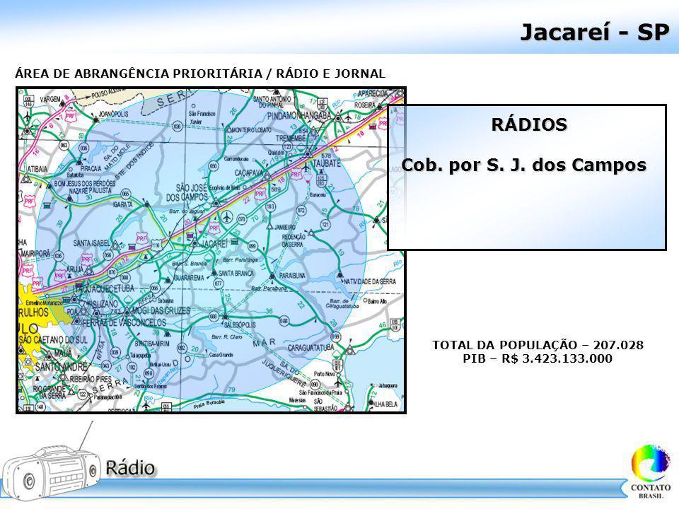 Jacareí - SP RÁDIOS Cob. por S. J. dos Campos