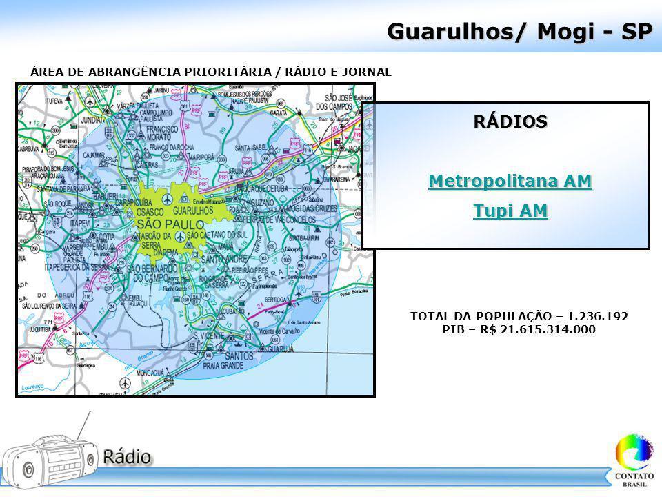 Guarulhos/ Mogi - SP RÁDIOS Metropolitana AM Tupi AM