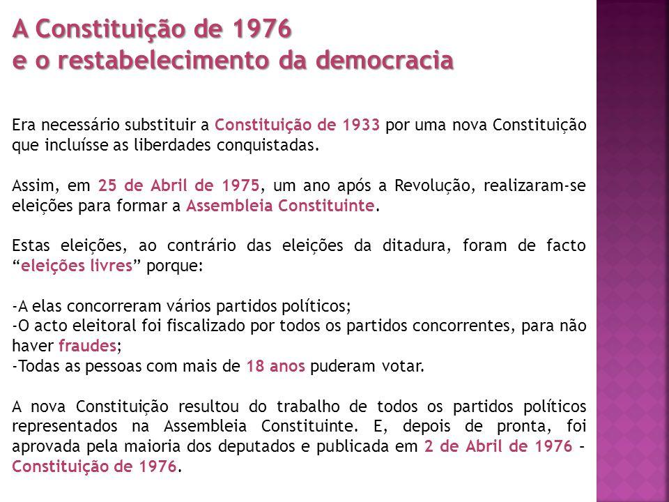 e o restabelecimento da democracia