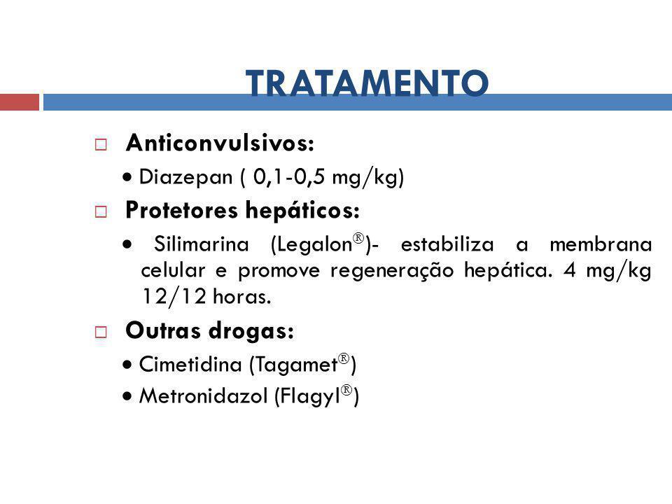 TRATAMENTO Anticonvulsivos: Protetores hepáticos: Outras drogas: