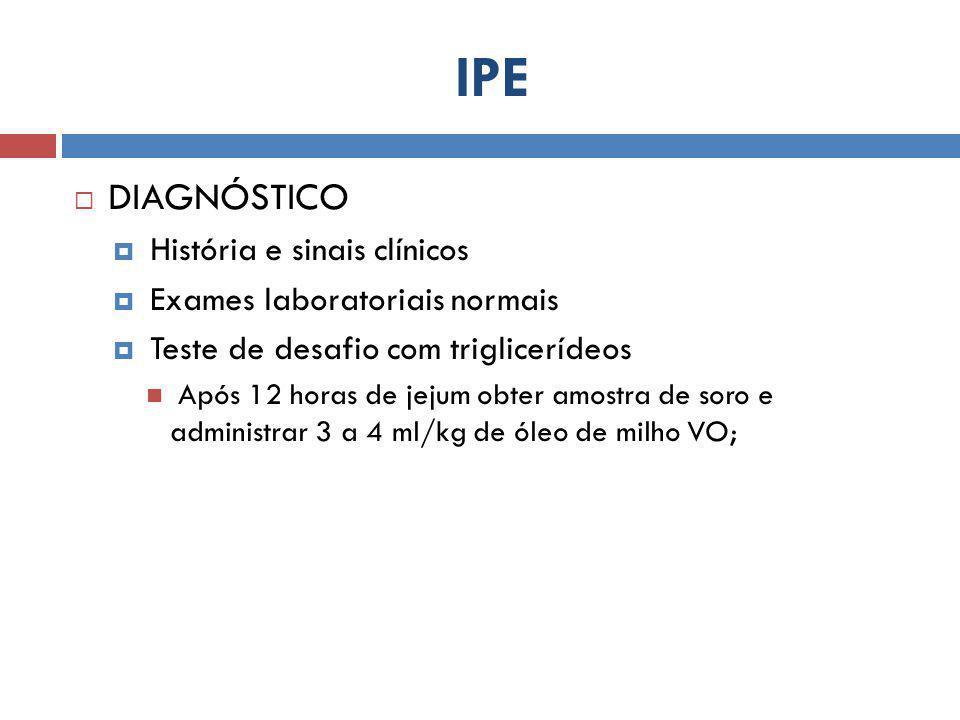 IPE DIAGNÓSTICO História e sinais clínicos