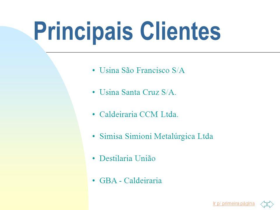 Principais Clientes Usina São Francisco S/A Usina Santa Cruz S/A.
