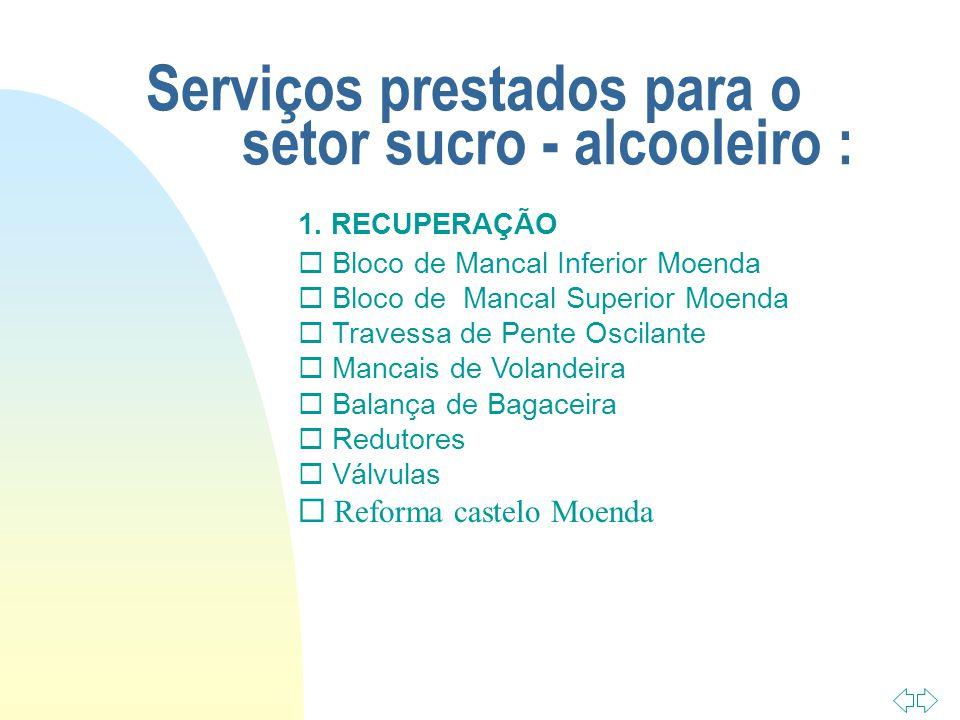 Serviços prestados para o setor sucro - alcooleiro :