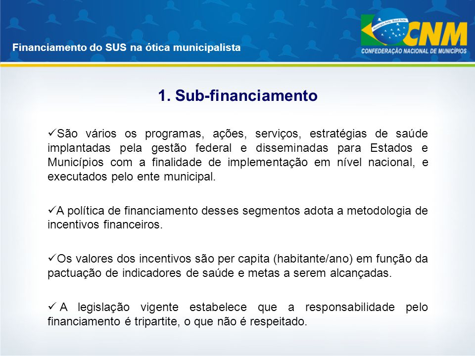 1. Sub-financiamento