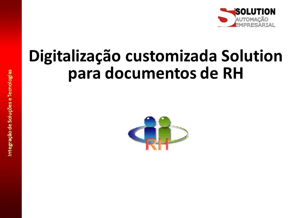 Digitalização customizada Solution para documentos de RH