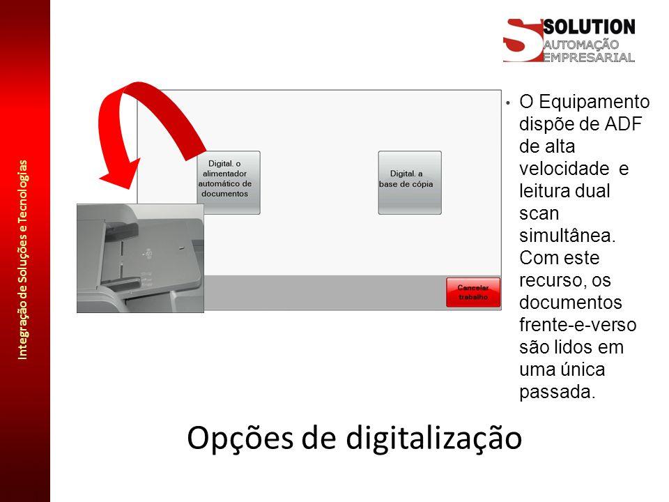 Opções de digitalização