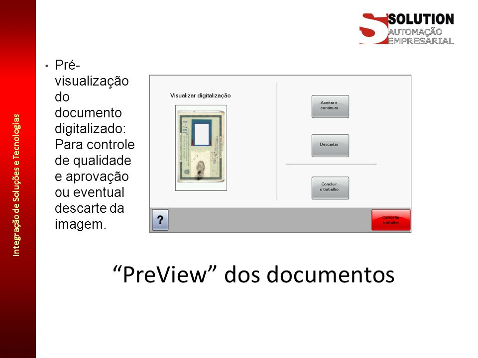 PreView dos documentos