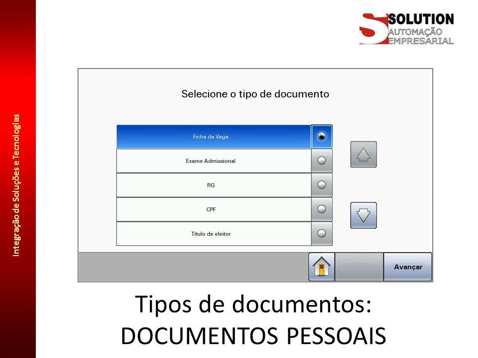 Tipos de documentos: DOCUMENTOS PESSOAIS