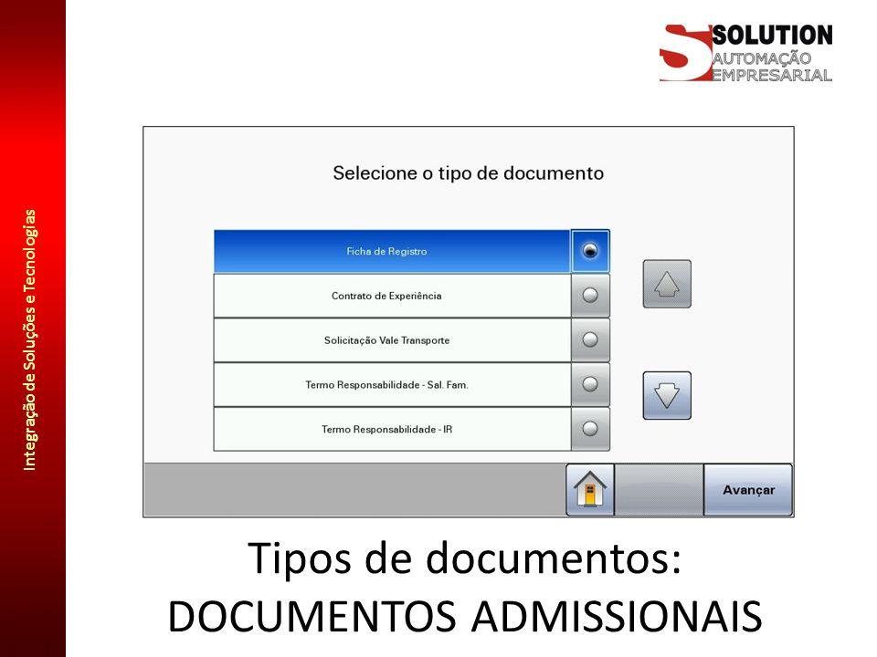 Tipos de documentos: DOCUMENTOS ADMISSIONAIS