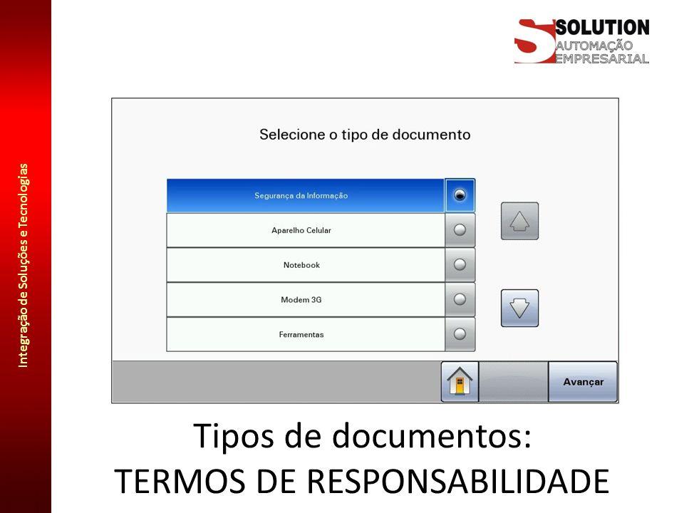 Tipos de documentos: TERMOS DE RESPONSABILIDADE