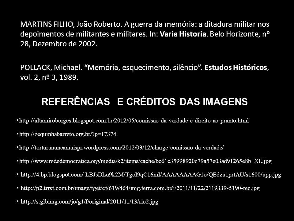 REFERÊNCIAS E CRÉDITOS DAS IMAGENS